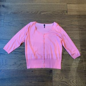 Maurices Button Front Pink Cardigan